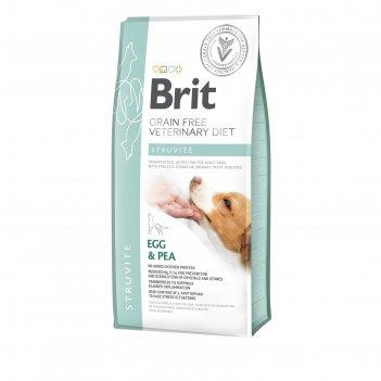 Сухой корм brit vdd struvite, для собак, растворение струвитов, 2 кг