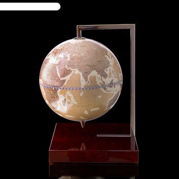 Глобус-сувенир настольный, серый, d 22 см