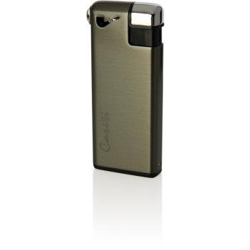 Зажигалка caseti для трубок газовая пьезо, оружейный хром, 2,8