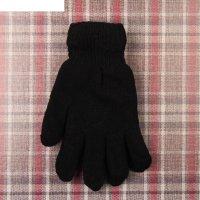 Перчатки мужские сэм двойные, l-25 см, безразмерные, цвет черный
