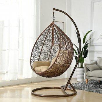 Подвесное кресло cocoon chair 201 xl brown, садовая мебель