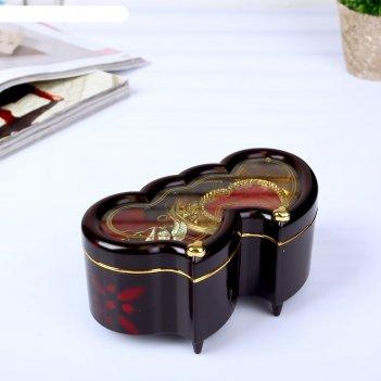 Шкатулка музыкальная два сердца механическая