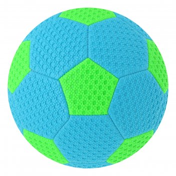 Мяч футбольный пляжный р.5, 340 гр, 32 панели, цвет голубо-салатовый