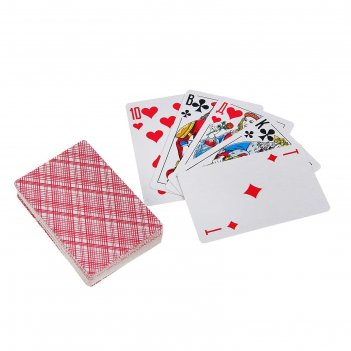 Карты игральные бумажные король, 54 шт., 8,8 x 5,7 см, микс