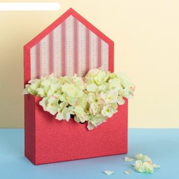 Коробка конверт для цветов 20 х 13 х 17 см