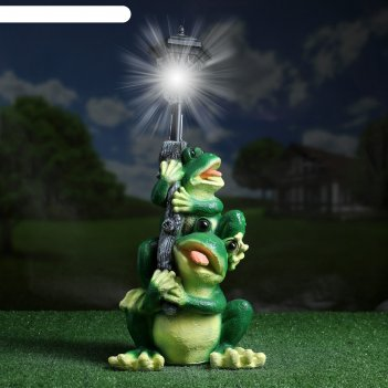 Садовый фонарь лягушата с фонарем 50см