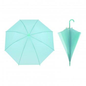 Зонт детский однотонный, зелёный, d=82 см