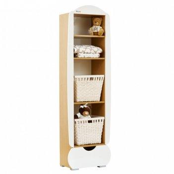 Шкаф-стеллаж shapito treeo natural white, цвет белый/ натуральный