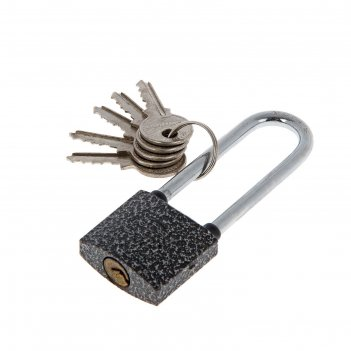 Замок навесной аллюр вс1ч-330д, длинная дужка d=5 мм, 5 ключей