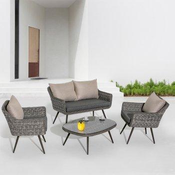 Комплект мебели для сада mi casa bueno cuatro, садовая мебель