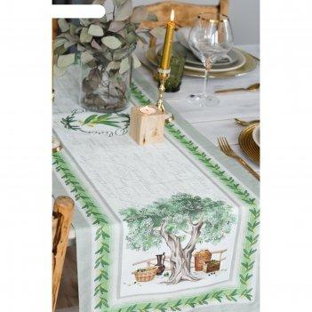 Дорожка на стол olivia 40*146 см, 100% хл, саржа 190гр/м2