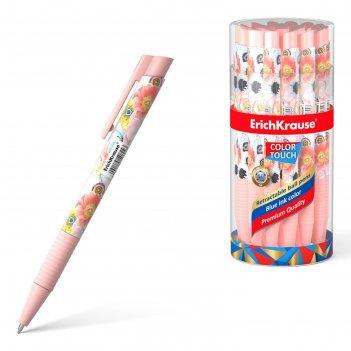 Ручка шариковая автомат erichkrause colortouch flower cocktail, узел 0.7мм