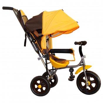 Велосипед трехколесный лучик малют 2, колеса eva  10/8, цвет коричнево-жел