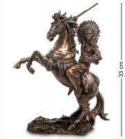 Ws-444 статуэтка индеец на коне