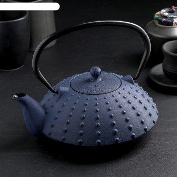 Чайник с ситом 1 л байсан, цвет синий