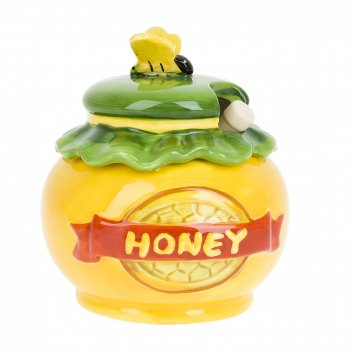 Банка для меда с ложкой honey d=10,5см. h=11,5см. v=280мл. (ло