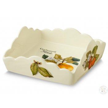 Салфетница квадратная 22см artigianato ceramico груша