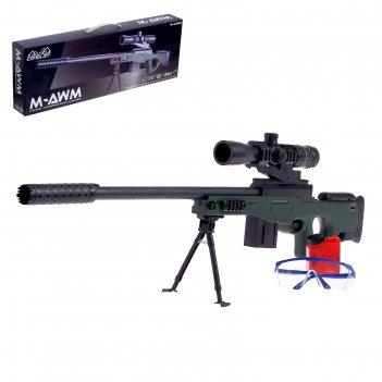 Винтовка m96, стреляет гелевыми пулями, работает от аккумулятора