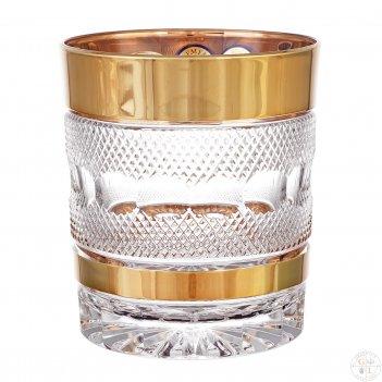 Набор стаканов для виски хрусталь с золотом филиция bohemia max crystal 32