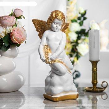 Статуэтка ангел большая белый с золотом