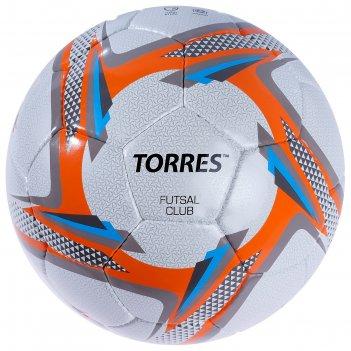 Мяч футзальный torres futsal club, f30384/f30064, размер 4, 32 панели, pu,