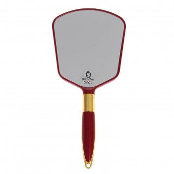 Зеркало с ручкой подвесное пластик пятиугол одностор 11*23,5см микс пакет