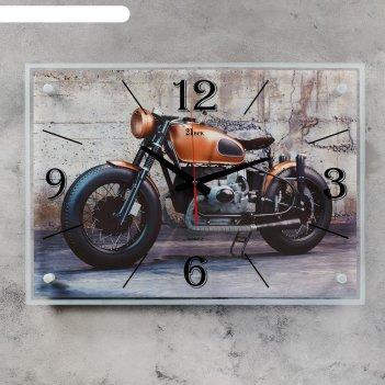 Часы настенные, серия: транспорт, байк, 40х56 см