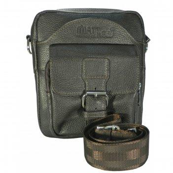 Сумка мужская, 20х24х24 см, отдел на молнии, 2 наружных кармана, регулируе