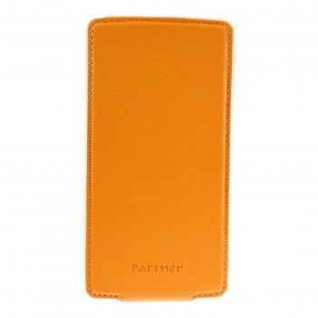 Чехол partner flip-case 4,5, оранжевый (размер 7*13.5 см)