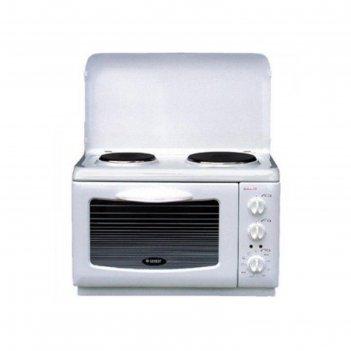 Плитка электрическая gefest 420, 2200 вт, 2 конфорки, белая