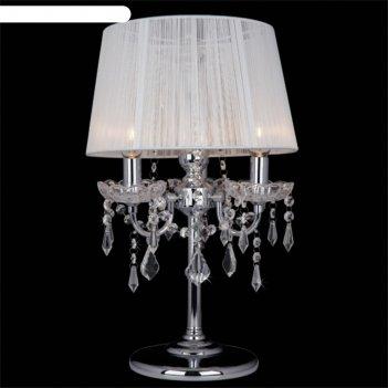 Настольная лампа allata 3x40вт е14 хром 30x30x48см