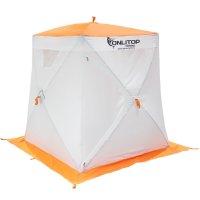 Палатка призма 150 (2-сл) люкс композит, бело-оранжевая