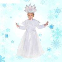 Карнавальный костюм снегурочка,3 предмета: платье, корона, накидка, размер