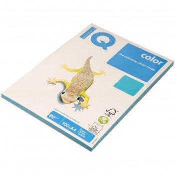 Бумага цветная iq color intensive (а4,80г,ab48-светло-синий) пачка 100л, а