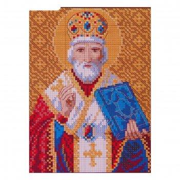 Алмазная мозаика святого николая чудотворца, 34 цвета