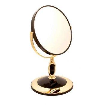 Зеркало* b6806 blk/g black&gold настольное 2-стор. 5-кр.ув.