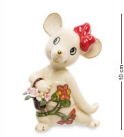 Jp-121/13 фигурка мышка с цветами (pavone)
