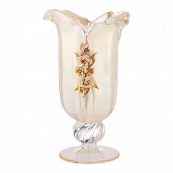 Ваза white crystal avorio oksan высота 36см