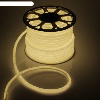 Гибкий неон круглый d 16 мм, 50 метров, led-120-smd2835, 220 v, теплый бел