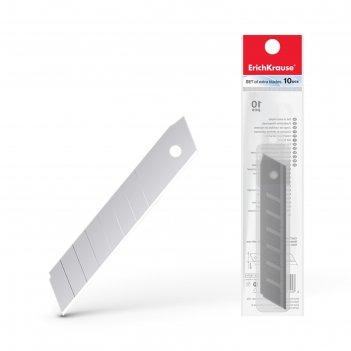 Лезвия для канцелярского ножа 18 мм, 10 штук, erich krause, в пластиковом