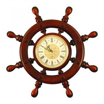 Шчст-с02 штурвал сувенирный, часы (8 ручек)