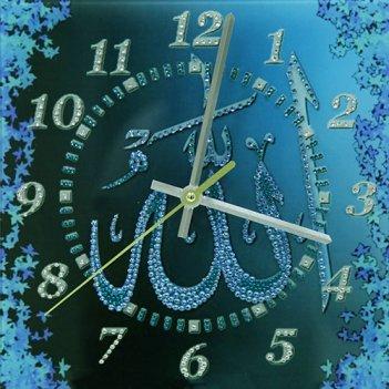 Картина сваровски - часы аллах бирюза