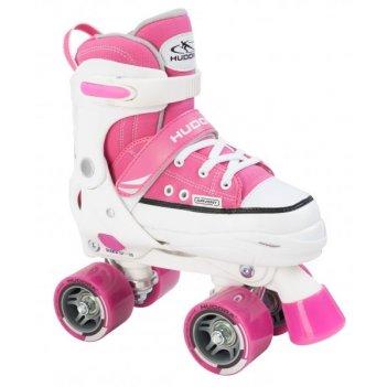 Роликовые коньки hudora rollschuh roller skate pink (28-31)  (22033)