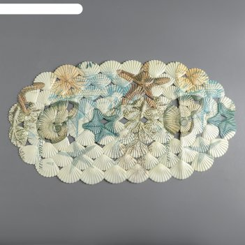 Коврик для ванны ракушки, 35х70 см