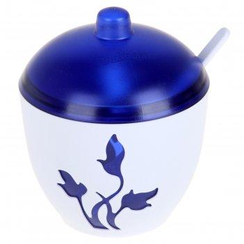 Сахарница с ложкой viola, цвет синий
