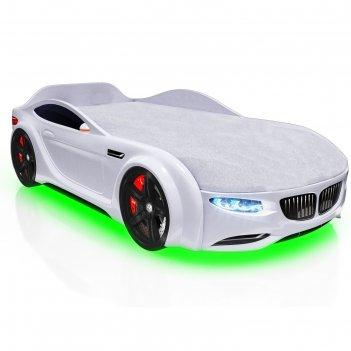 Кровать romack junior x5, 1500 x 700 мм, подсветка дна и фар, цвет белый
