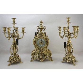 Каминные часы с канделябрами  деметра