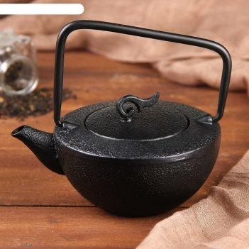Чайник с ситом 500 мл орео, цвет черный