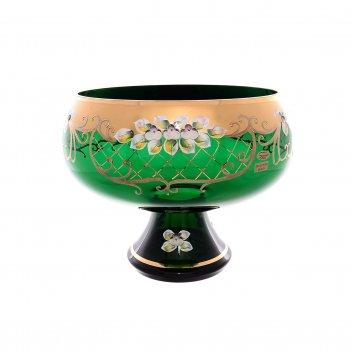 Фруктовница bohemia лепка зеленая e-s 32 см