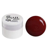 Гель-краска для ногтей 3-х фазный, 8мл, 29, цвет бордовый